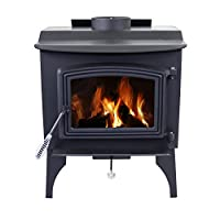 Pleasant Hearth WS-2417 1200 sq. ft. Wood Stove with Leg Base, Small