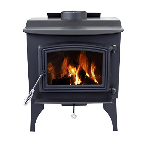 Pleasant Hearth WS-2417 1200 sq. ft. Wood Stove with Leg Base, Small (For Hearth Wood Stove Brick)