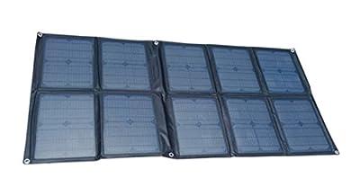 GGX ENERGY 100 Watt Portable Solar Array Solar Panel Charger Kit 12V for House Battery of VW Eurovan Camper/Weekender (black)