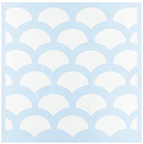 CLEARSNAP Clear Scraps Fish Scales Stencils, 12 by
