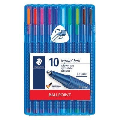 10ct Ballpoint Pens in Case - Staedtler Multi-Colored