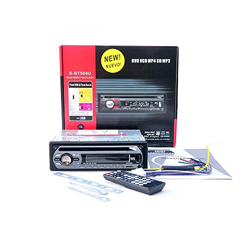 Moligh doll 1 Din 12V Car Dvd Player Car Audio Cd Multi Function Vehicle Dvd Player Dvd Vcd Cd Player With Remote Control Mp3 Play S-Gt564U: