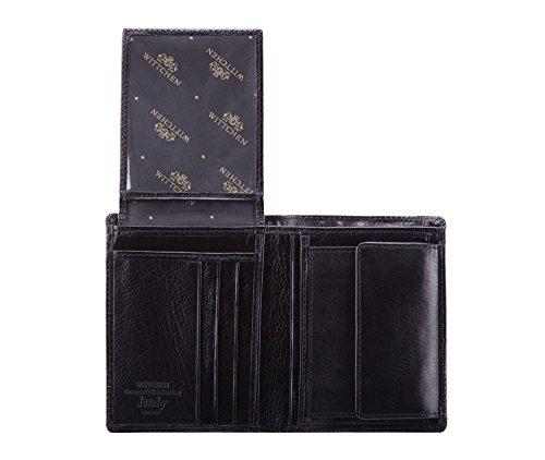11 009 Material 1 1 Negro Italy Orientación Cm Grano Tamaño X De Color Wittchen 21 Billetera Cuero Colección 9 Vertical 5 Fpwvqv