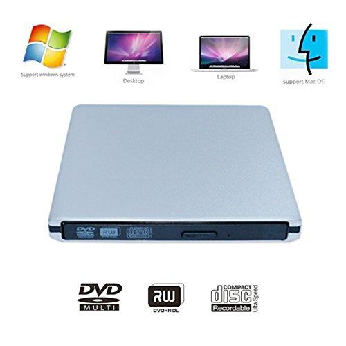 External CD DVD Drive Latest USB3.0 Ultra Slim Portable DVD Rewrite/Writer/ Burner CD+/-RW DVD +/-RW Super Drive for (Dell Blu Ray Laptop Drive)