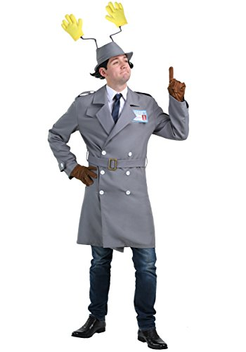 Inspector Gadget Men's Police Officer Movie Costume X-Large Gray