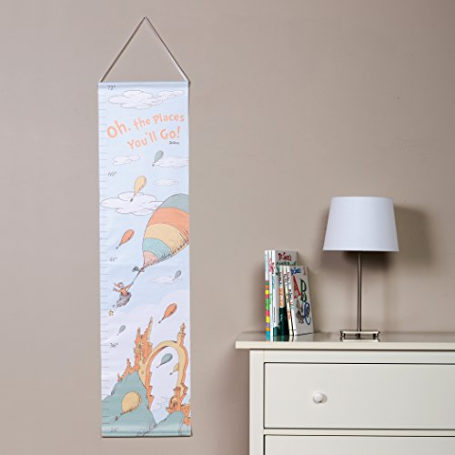Baby Shower Gift Ideas: Dr. Seuss Oh The Places You'll Go Canvas Growth Chart