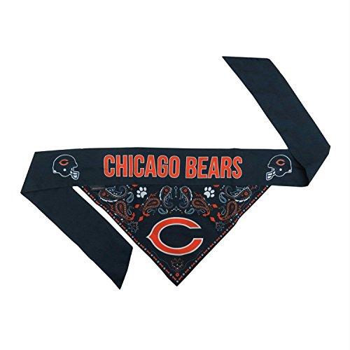 Chicago Bears Pet Reversible Paisley Bandana - Medium (Paisley Bear)