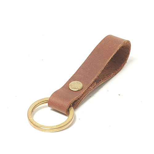 Passion handmade Key Ring Combination genuine Leather fob Keychains Leather Strap Keyring