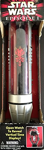Star Wars Episode I Darth Maul Collector Watch with Lightsaber Display Case