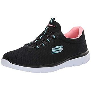 Skechers Women's Summits Sneaker, Black/Pink, 5 W US