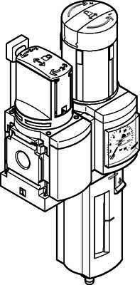 Festo 542274 Service Unit Combination, Model MSB6-1/2:C3J2-WP