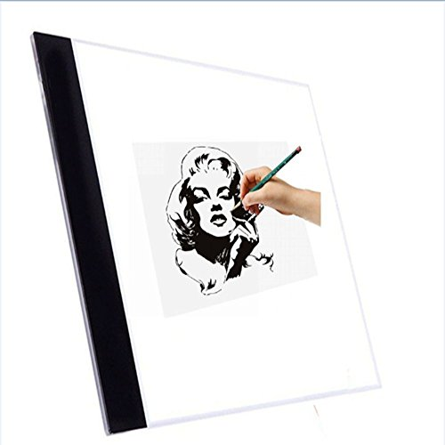 A4 LED Light Pad, Ultra-Thin LED Tracing Light Box, USB Interface Portable LED Drawing Board for Artist,Painting Calligraphy Sketching,Animation ,Tattoo by Newpurslane by Newpurslane