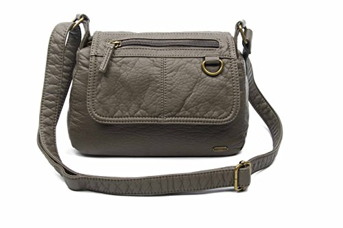 - The Willma Crossbody Bag Shoulder Handbag Vegan Leather by Ampere Creations (Dark Grey)