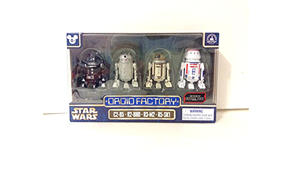 Star Wars Color Changing Droid Factory 4 Pack NEW Disney Park Excl BB R2 C1 RA7