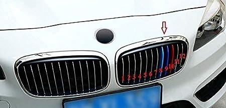 M-Color ABS Grillstreifen Eins/ätze f/ür F45 F46 2-Serie Nierengrill 10 Streifen 2015-18