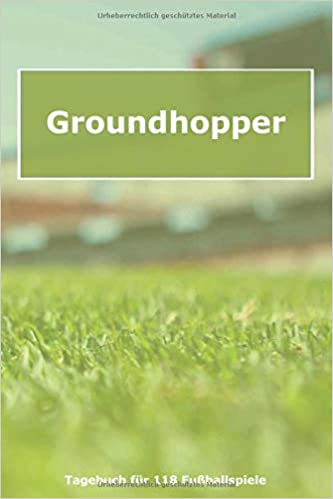 Groundhopper Tagebuch Fur Groundhopping Fans Motiv