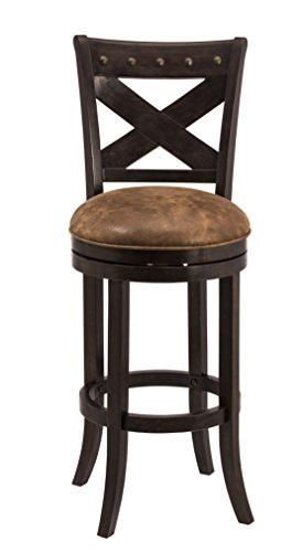 Hillsdale Furniture 5758-826A Hillsdale 5758-826 Brantley Swivel Counter Stool, Deep Brown Finish,