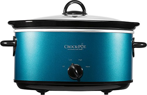 Crock-Pot Manual Slow Cooker with Travel Strap- Turquoise