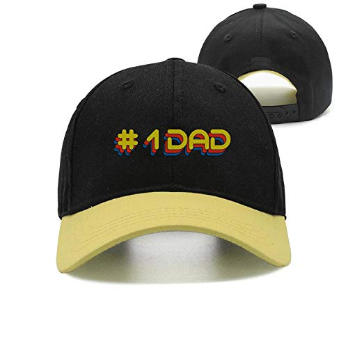 (Sounthhery Unisex Number 1 Dad Embroidered Pigment Dyed Sandwich Baseball Cap Adjustable Snapback Dad Hat)