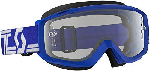 Scott Split OTG Adult Off-Road Motorcycle Goggles - Blue/White / Clear/One ()
