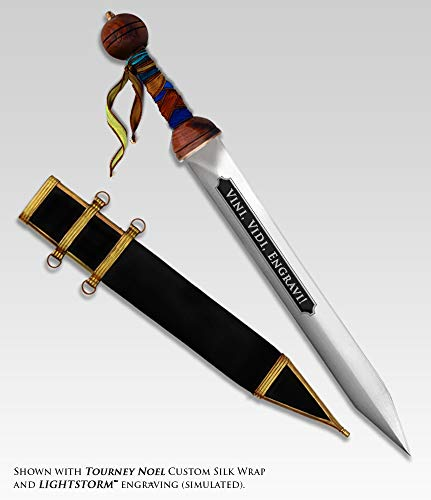 Mantra Laser - Personalized Roman Gladius with Free Text Engraving and Optional Grip Styles and Engraving Styles