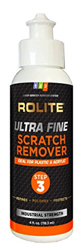 Ultra Fine Scratch Remover for Plastic & Acrylic Surfaces including Marine Strataglass & Eisenglass, Headlights, - Remover Scratch Glasses