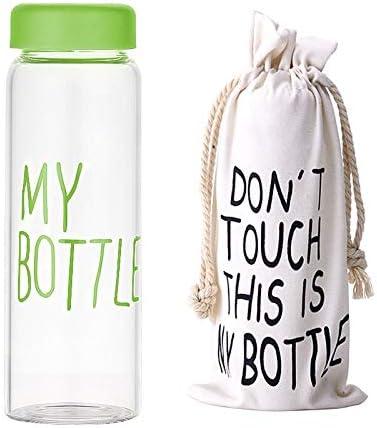 KOUAJ Botella de Agua Botella De Plástico para Botellas De Agua con Bolsa Protectora Transparente O Deportiva Mate Verde y Bolsa Estera: Amazon.es: Hogar