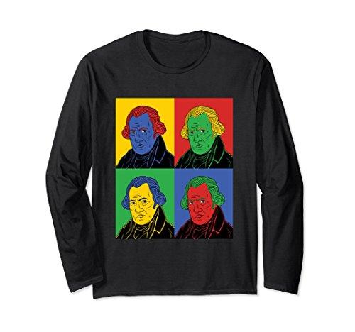 Unisex James Watt Pop Art Long Sleeve History Shirt XL: Black (Arts Watts)