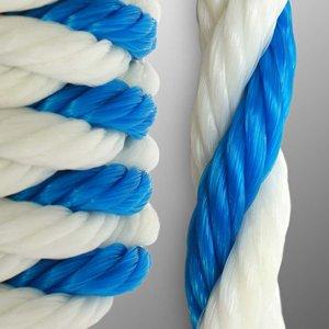 Polypropylene Blue/White Pool Rope 3-Strand 3/4\
