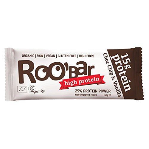 ROOBAR Protein Choc Chip + Vanille 60g Rohkost-Riegel (bio, roh, vegan) Neue Rezeptur!