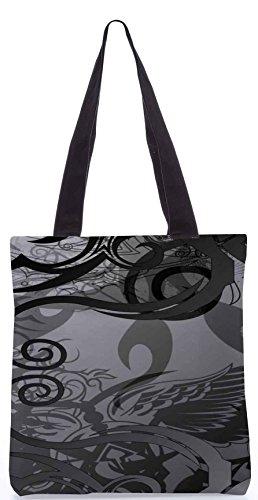 Snoogg Grau abstrakte 13,5 x 15 Zoll-Shopping-Dienstprogramm-Einkaufstasche aus Polyester-Segeltuch gemacht