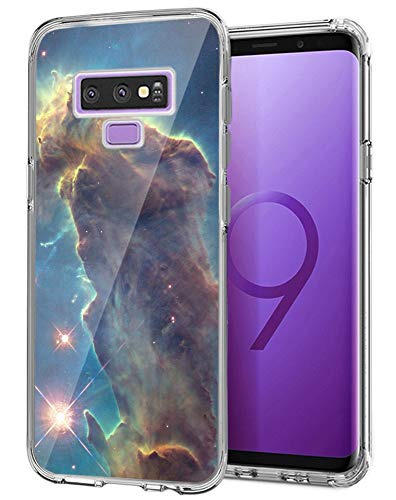 Owa UV Printing Case for Samsung Galaxy Note 9, Shock-Absorption Bumper Cover, Anti-Scratch Clear Back, HD Clear - Outer Space