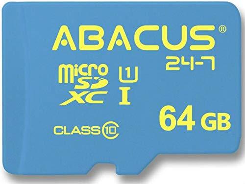 Abacus24-7 64GB Memory Card microSD for Amcrest Shield IPM-HX1, ENKLOV, ieGeek 720P HD, Kamtron Cloud IP, LeFun C2, Nexgadget, YI Home 2 1080p, Zmodo Security Surveillance Camera