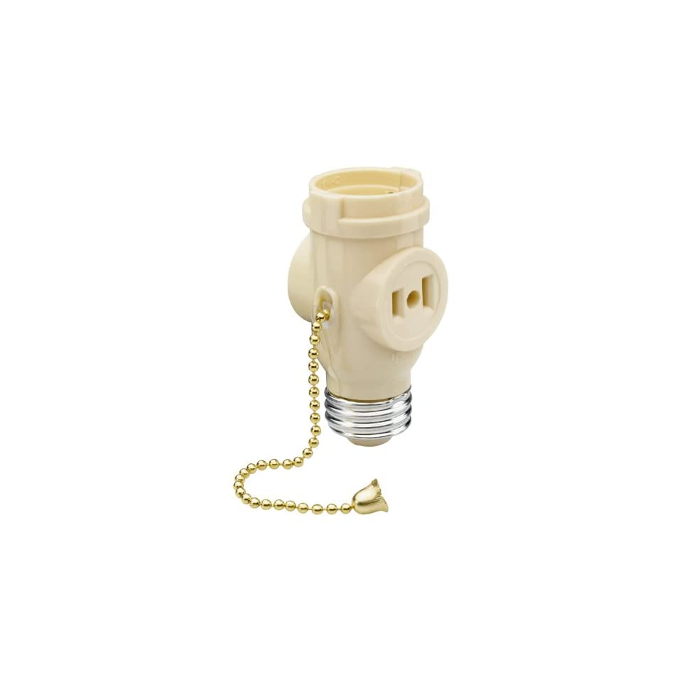 Legrand Pass & Seymour 1406ICC10 Lamp Holder Medium Outlet Pull Chain Great for Light Duty Applications