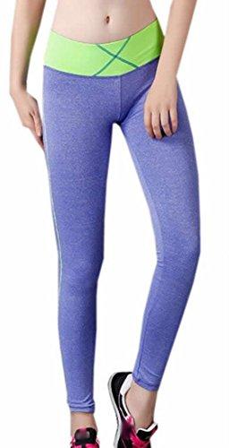 XQS Womens Workout Activewear Yoga Pant Gym Spanx Tights legging Green Medium