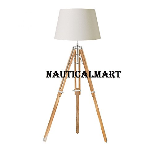 Natural-Tripod-Floor-Lamp-Stand-Teak-Wood-Home-Decor-By-Nauticalmart
