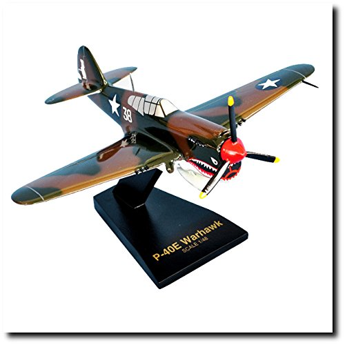 Planejunkie Aviation Desktop Model - Curtiss P-40E Warhawk Model