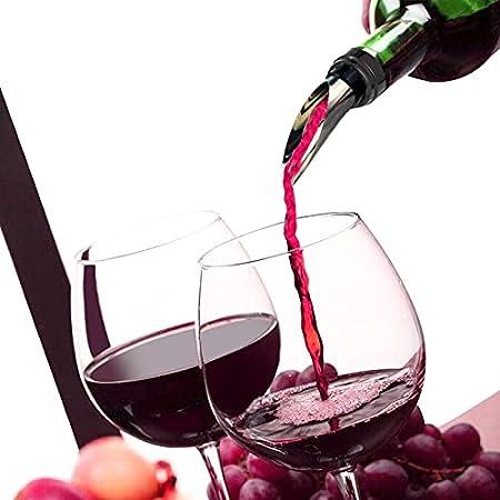Sacacorchos, Sacacorchos Vino, Kit de Abridor de Vino 5 Piezas, Abrebotellas de Vino, Tapón de Vino, Vertedor de Vino, Anillo de Goteo de Vino, Cortador de Cápsulas, para los Amantes del Vino