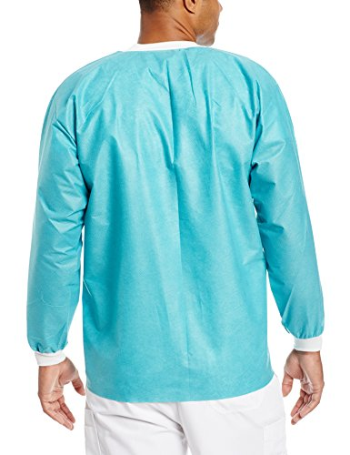 ValuMax 3630TEM Extra-Safe, Wrinkle-Free, Noble Looking Disposable SMS Hip Length Jacket, Teal, M, Pack of 10 by Valumax (Image #2)