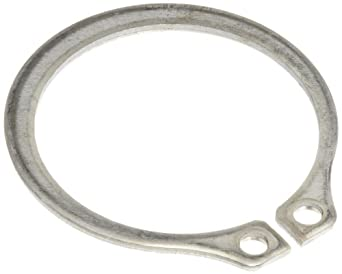 """Standard External Retaining Ring, Tapered Section, Axial Assembly, PH15-7 Stainless Steel, Passivated Finish, 1/32"""" Shaft Diameter, 0.025"""" Thick, Made in US (Pack of 10)"""