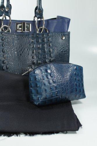 Belli - Bolso de asas de cuero para hombre azul azul