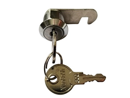 5/8 inch or 16mm Cam Lock with Flat Keys. 16mm 5/8 Cylinder and Chrome Finish, Keyed Alike (Pack of 2) by Products Quad (Image #1)