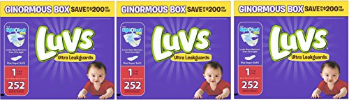 Luvs Ultra Leakguards shOmen Newborn Diapers, Size 1 (3 Pack) by Luv