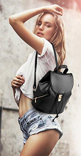 da donna donna pelle della esterno Borsa da scuola da borsa in Zaino casual borsa TSRHFGT robusta White1 viaggio qZAv6xH
