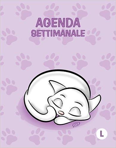 Agenda settimanale - L: Colore Orchidea - Gatti - Perpetua ...