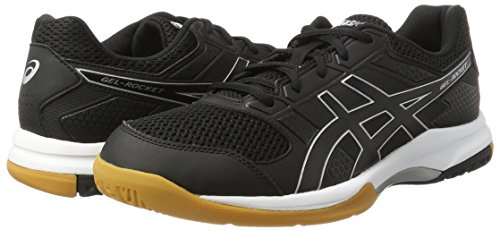 Amazon.com | ASICS Mens Gel-Rocket 8, Black/Black/White, 8.5 D(M) US | Shoes