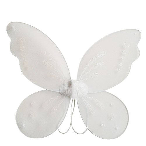 White Fairy Wings (Weixinbuy Princess Angel Butterfly Wings Halloween Fancy Dress Costume)