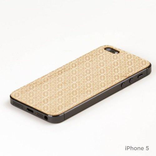 Lazerwood 25500 Holz Cover für Apple iPhone 5/5S inkl. Displayschutzfolie Nina-Maple