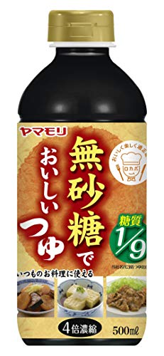야마모리 名代 무설탕 맛있는 쯔유 500ml×3개