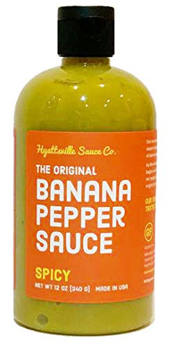 (Hyattsville Sauce Co. Banana Pepper Sauce, Spicy Original, 12 Ounce Squeezable Bottle)